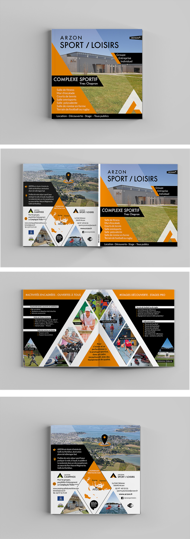 Création Graphique - Arzon Sport et loisirs - Plaquette réalisée par Turkoiz Créations by Valérie Perrodo
