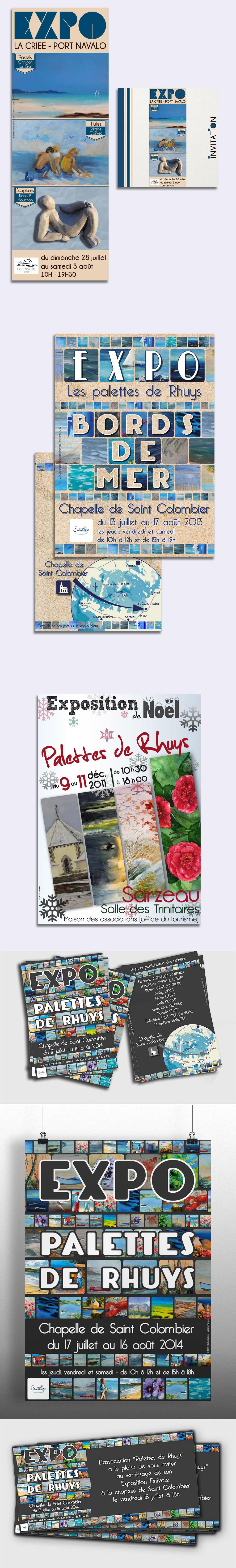 Evénementiel - Exposition Palettes de Rhuys- Affiche réalisés par Turkoiz Créations by Valérie Perrodo