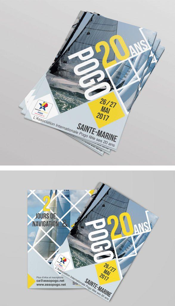 Création Graphique - Pogo 20 ans - flyer réalisé par Turkoiz Créations by Valérie Perrodo