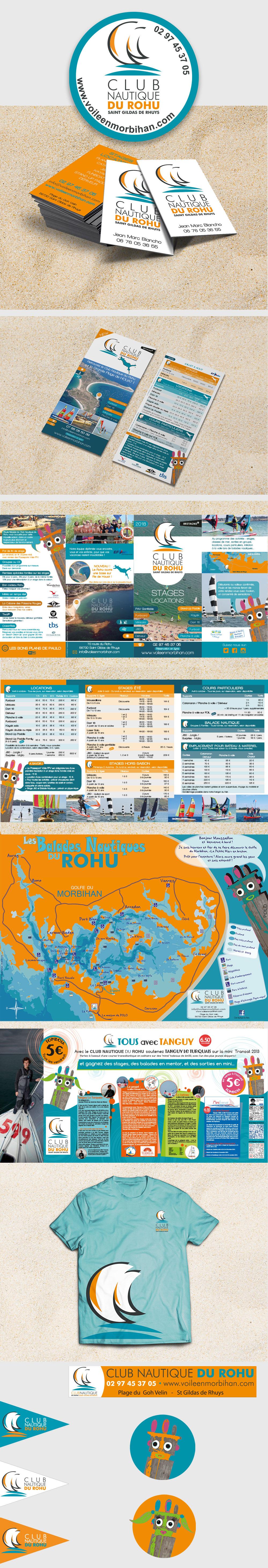 Création Graphique - Club Nautique du Rohu par Turkoiz Créations by Valérie Perrodo