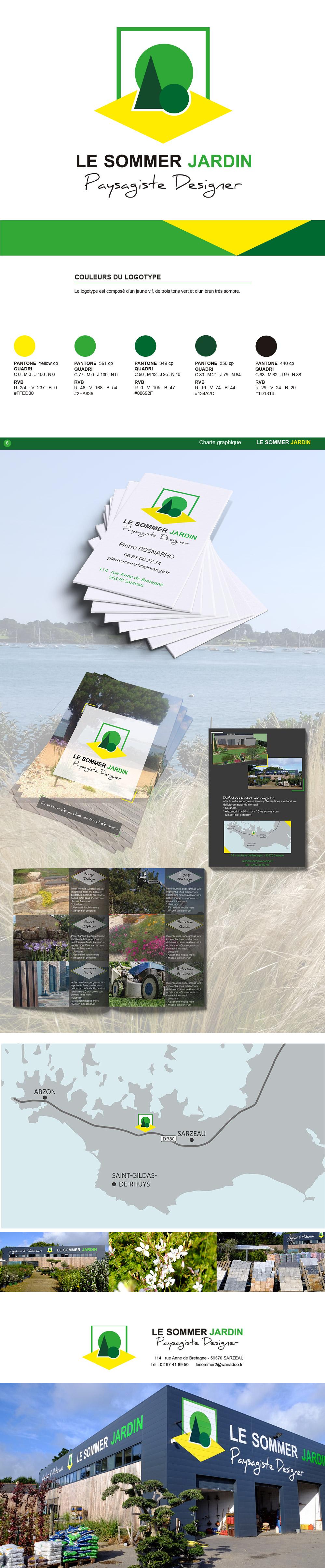 Identité visuelle et création graphique - Le Sommer Jardin - Sarzeau - Logotype et flyer réalisés par Turkoiz Créations by Valérie Perrodo