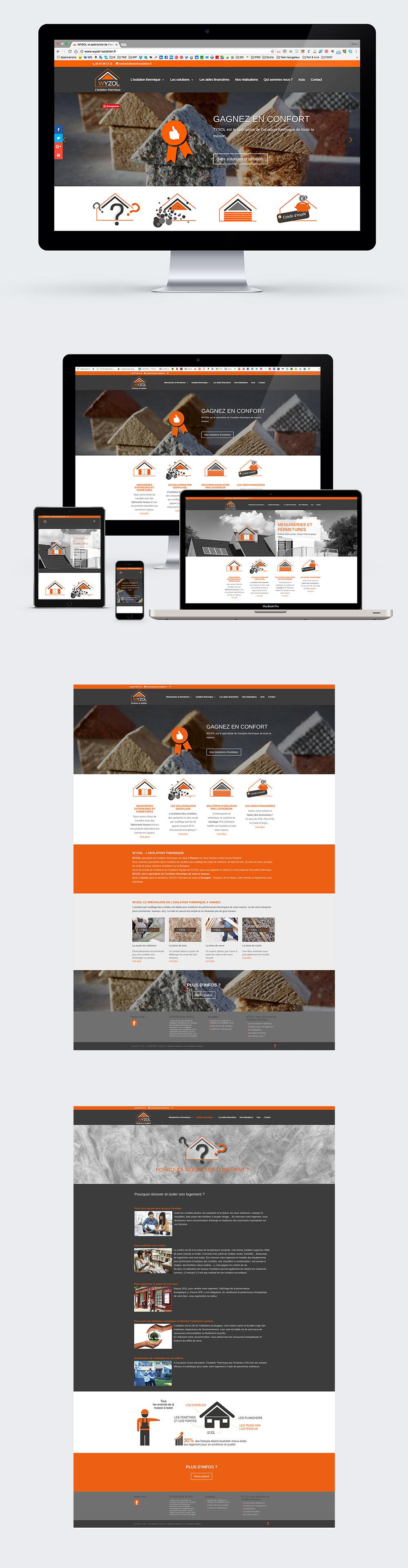 Webdesign - Wyzol - site internet réalisé par Turkoiz Créations by Valérie Perrodo