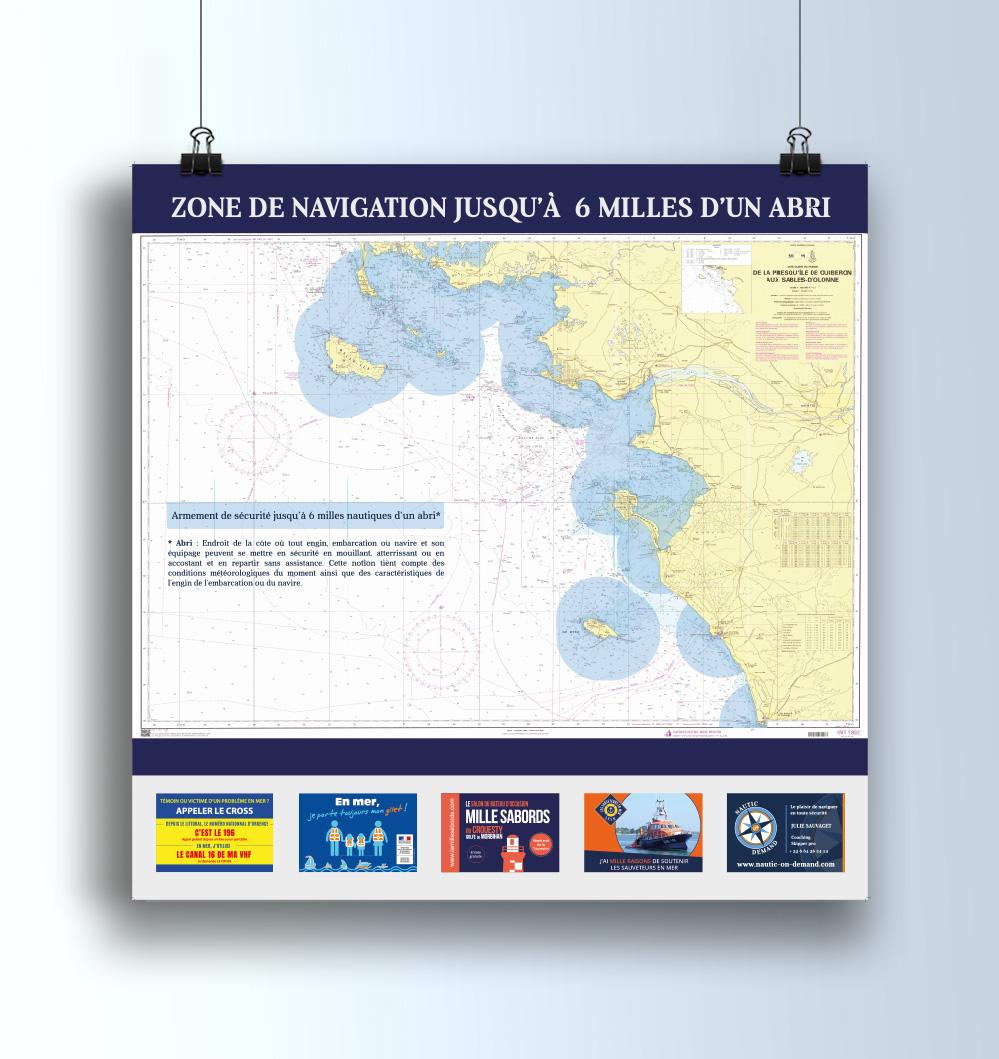 Turkoiz Creations - Division 240, Procedure VHF, et  Zone de navigation pour Nautic On Demand